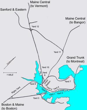 Portland Terminal Company - Image: Portland Terminal Company Map