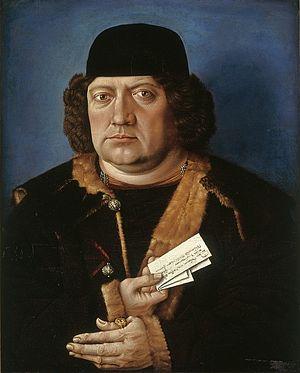 Master of the Mornauer Portrait - Image: Portrait of Alexander Mornauer before restoration
