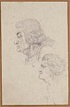Portraits of Jean-Baptiste-Joseph Gobel (1727-1794), Bishop of Paris in 1792-93, and Pierre-Gaspard Chaumette (1763-1794), Procurator of the Commune in 1792, sketched on the way to the guillotine, April 12, 1794. MET 62.119.8c.jpg