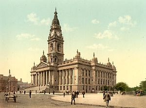 Portsmouth Guildhall - The Guildhall prior to World War Two