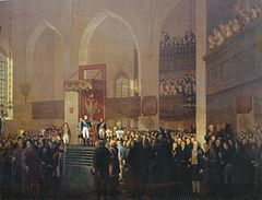 Alexander I confirmed the new Finnish constitution and made Finland an autonomous Grand Duchy at the Diet of Porvoo in 1809. (Source: Wikimedia)