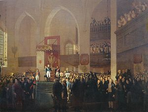 Emanuel Thelning - The Opening of the Diet of Porvoo (1812), which is considered to be Thelning's main work.