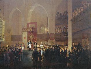 Tsar Alexander I opens the Diet of Porvoo 1809
