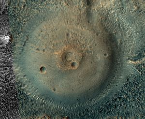 Acidalia Planitia - Possible mud volcano in Acidalia Planitia