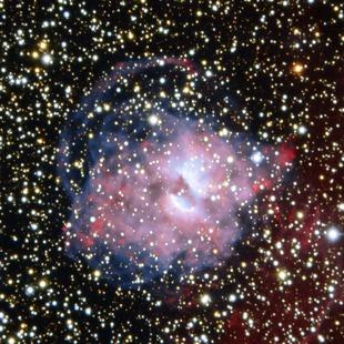 Aufnahme des planetarischen Nebels NGC 3699 mittels der ESO Faint Object Spectrograph and Camera montiert am New Technology Telescope.