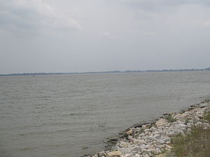 Poverty Point Reservoir State Park - A view of the lake near the state park