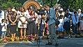 Pracownik muzeum dokumentuje święcenie darów - święto Spasa, Sopiw, Ukraina.jpg