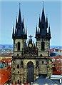 Prag - Blick vom Altstädter Rathausturm auf die Kirche der Jungfrau Maria vor dem Tein - Pohled z věže Staré radnice na kostel Panny Marie před Týnem - panoramio (1).jpg