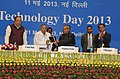 Pranab Mukherjee and the Union Minister for Science & Technology and Earth Sciences, Shri S. Jaipal Reddy launching a modular Tablet PC designed.jpg