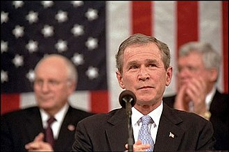 2002 State of the Union Address - Image: President Bush at State of the Union