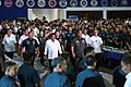 President Rodrigo Duterte and his entourage go to the Philippine Air Force multi-purpose gymnasium to have a boodle fight.jpg