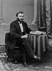President Ulysses S. Grant seated portrait Brady