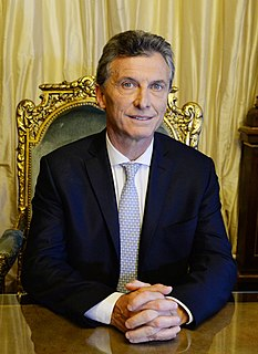 Argentine politician and President of Argentina