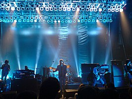 Primal Scream performing in Southampton in 2006