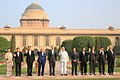 Prime Minister Narendra Modi and ASEAN heads of state and government at the Rashtrapati Bhavan in New Delhi.jpg
