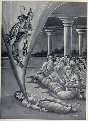 Vena (Hindu king) - Prithu appears from Vena's corpse