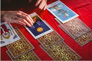Tarot card reading Using tarot cards to perform divination