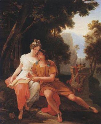 Propertius - Auguste Jean Baptiste Vinchon, Propertius and Cynthia at Tivoli