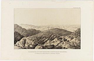 Prospectus in Prov. Minarum Montuosam Regionem e Serra de Ouro Branco Caurum Versus