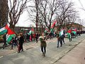Protesters in Trondheim who sympathize with Palestine on International workers day 2013 (02).JPG