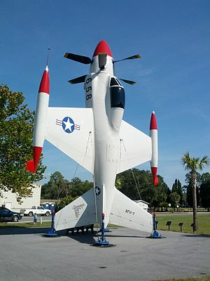 Lockheed XFV - Vertical display of the XFV-1 Prototype at Florida Air Museum at Sun-n-Fun