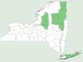 Prunus pumila var depressa NY-dist-map.png