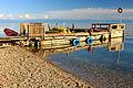 Przystań z łódkami na jeziorze Bajkał 01.JPG