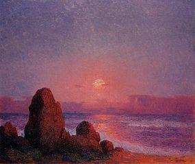 Coucher de soleil sur la côte bretonne