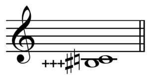 Comma (music) - Image: Pythagorean comma on C