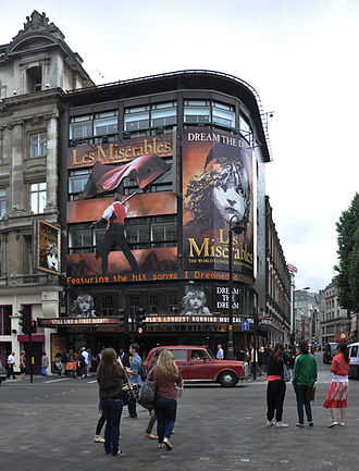 Queen's Theatre - Queen's Theatre in 2011, showing Les Misérables