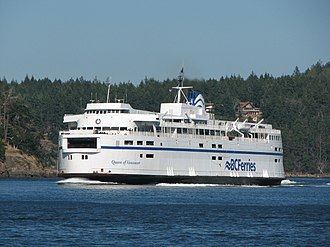 V-class ferry - Image: Queen of Vancouver in Active Pass