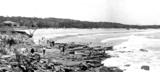 Alexandra Headland, Queensland - Beach at Alexandra Headland, 1931