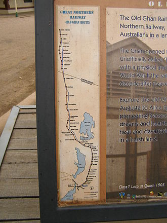 The Ghan - The route of the Old Ghan