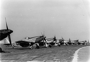 VIII Fighter Command - Image: RAF Debden 8th Fighter Command P 51D Mustangs on Line