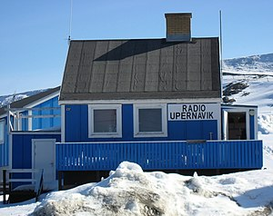 Music of Greenland - Local radio station in Upernavik, 2007