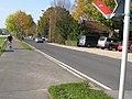 Radweg Derichsweilerstr., 2.Teil ab Gleis zum ehemaligen BW-Depot, asphaltiert, Höhe Friedhofs-Parkplätze, 24.10.2012 - panoramio.jpg