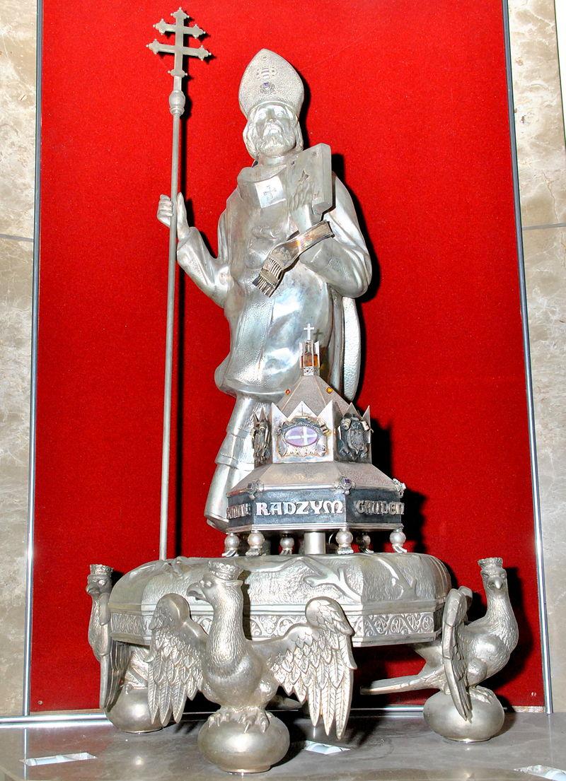 Relikvieskrin av St Gaudentius i kirken viet til ham