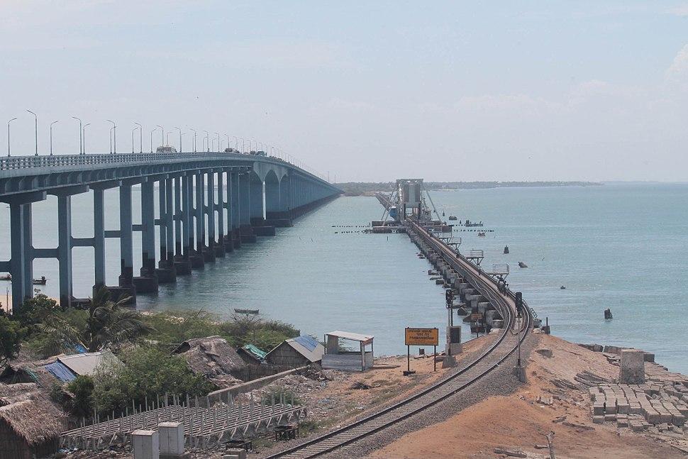 Rail and Road bridges, Rameswaram