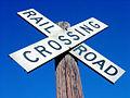 Railroad Crossing and deep blue sky.jpg