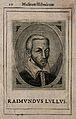 Ramón Lull (Lully). Line engraving by A. Salmincio, 1640. Wellcome V0003712.jpg