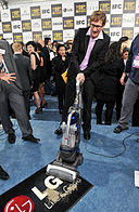 Ray McKinnon with the LG Electronics Kompressor Vacuum on 25th Spirit Awards Blue Carpet held at Nokia Theatre L.A. Live on March 5, 2010 in LA.jpg
