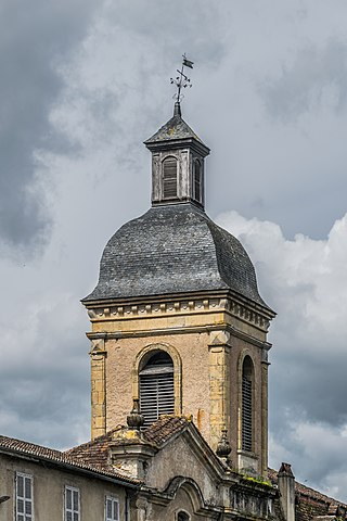 Bell tower of the Recollects Church of Saint-Céré, Lot, France