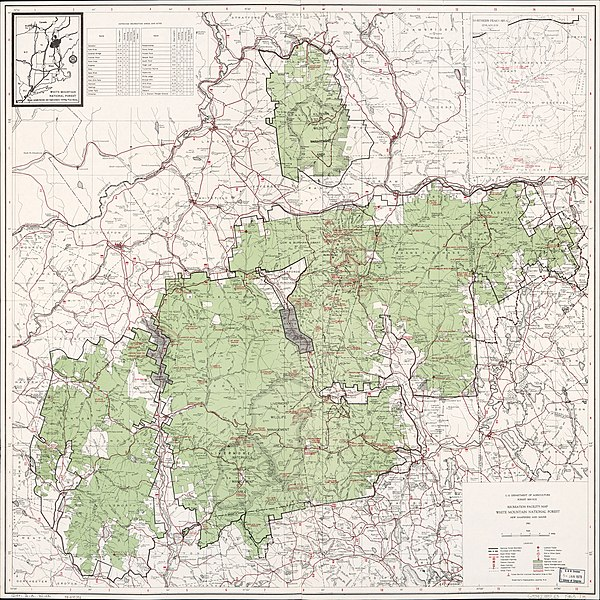 File:Recreation facility map, White Mountain National Forest, New ...