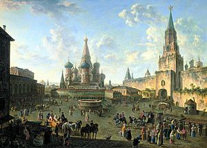 1801 in art - Image: Red Square in Moscow (1801) by Fedor Alekseev