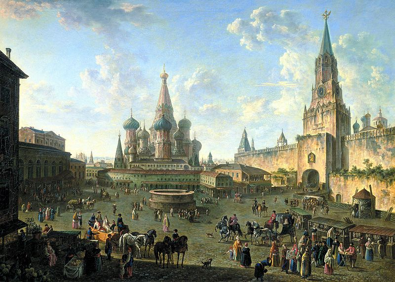 Red Square in Moscow (1801) by Fedor Alekseev.jpg