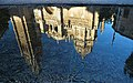 Reflejo Catedral de Toledo en Fuente Tres Aguas -- 2014 -- Toledo, España 03.JPG
