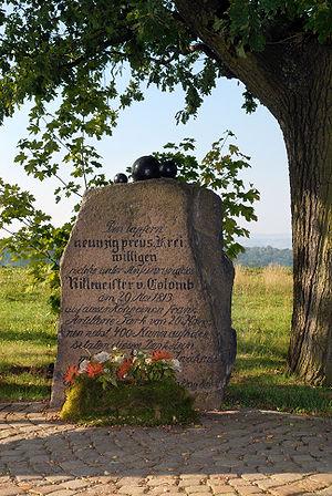 Friedrich August Peter von Colomb - Colomb-stone near Zwickau