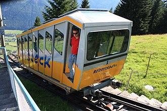 Reisseck Railway - The Reisseck Funicular (Section 1) at the Schütter waystop