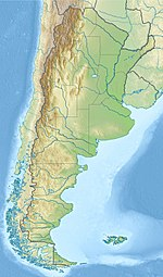 Map showing the location of Tierra del Fuego National Park