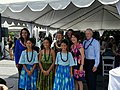 Rep. Gabbard, Secretary Jewell, First Lady Ige, and Chief Tidwell at IUCN 2016 Kupu Young Leaders event. (28779901473).jpg